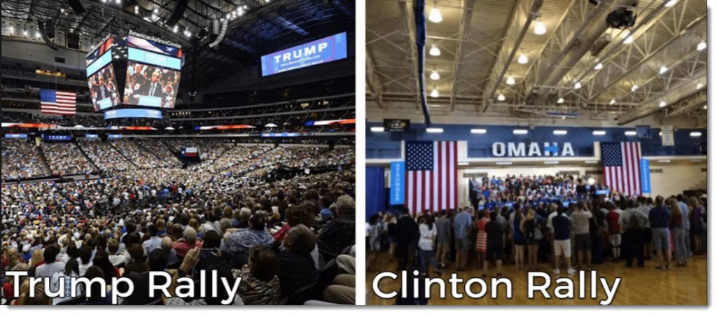 Trump and Clinton Rallies